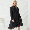 밀로그램() Lace Tag Dress - Black