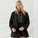 밀로그램() Cuddle Oversized Blazer - Black