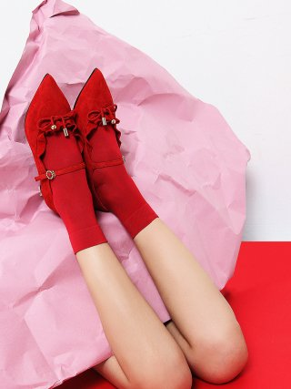 레이브업(raveup) Its Adorable Mary Jane Suede Red_0051