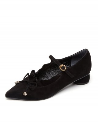 레이브업(raveup) Its Adorable Mary Jane Suede Black_0051