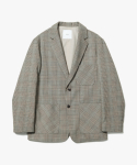 제로() Two Button Check Jacket [Glen Check]