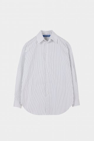 드퐁(defond) STRIPE OVERSIZED SHIRT-WHITE