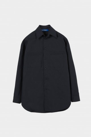 드퐁(defond) OVERSIZED POCKET SHIRT-NAVY