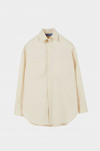 드퐁(defond) OVERSIZED POCKET SHIRT-BEIGE