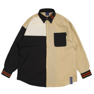 로맨틱크라운(romanticcrown) Color Block Shirt_Black