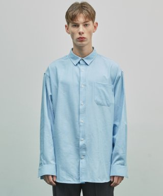 더스토리(thestori) 19SS OVERFIT OXFORD SHIRT (BLUE)