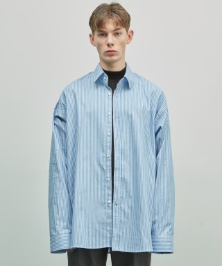 더스토리(thestori) 19SS OVERFIT SINGLE STRIPE SHIRT (BLUE)