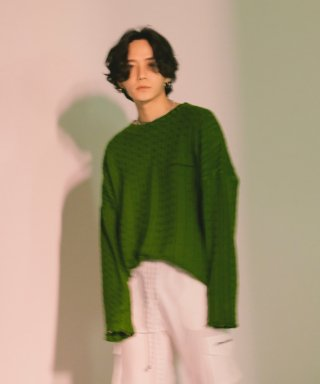 디퍼런트벗세임(differentbutsame) embroidery knit green