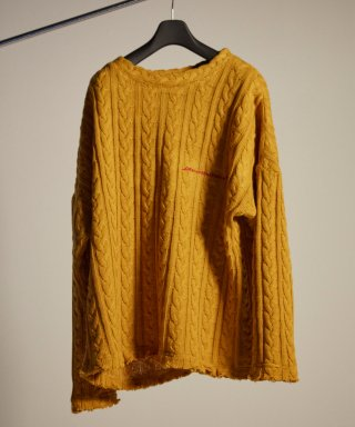 디퍼런트벗세임(differentbutsame) embroidery knit mustard
