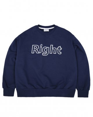 라잇루트(rightroute) RR SWEATSHIRT NAVY [표예나]