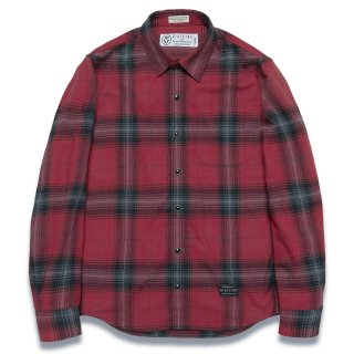 디아프바인(diafvine) DV. LOT572 PLAID CHECK SHIRTS -RED-