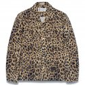 디아프바인(diafvine) DV. LOT573 LEOPARD OPEN COLLAR SHIRTS -BROWN-