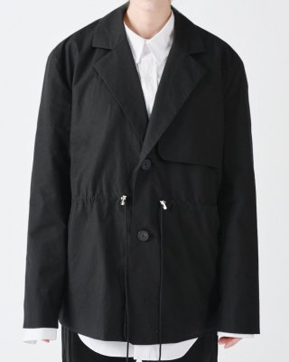 라잇루트(rightroute) GUN FLAP STRING TAILORED JACKET BLACK [황수정]