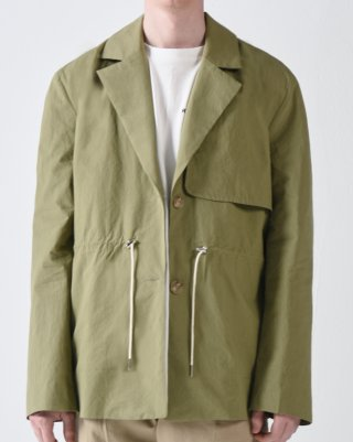 라잇루트(rightroute) GUN FLAP STRING TAILORED JACKET KHAKI [황수정]