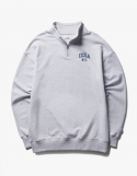 아이졸라() Arch Logo Half Zip-Up Crewneck - Ash Grey