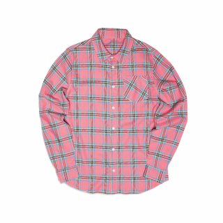 필이너프(feelenuff) FLANNEL CHECK SHIRTS (PINK)