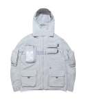 더블에이씨(DOUBLE A.C) 9-POCKET SMOCK JACKET(gray)