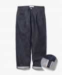 제로() One Tuck Crop Selvage Pants