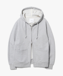 제로(XERO) Minimal 2Way Hoodie Zip Up [Grey]