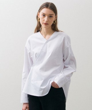 논로컬(nonlocal) Unblance Shirts - White