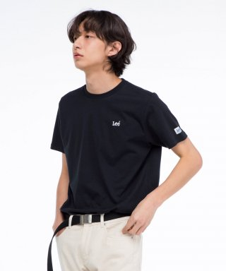 리(lee) 자수 스몰 로고 반팔티 EMBROIDERED SMALL LOGO  HALF TEE-BLACK