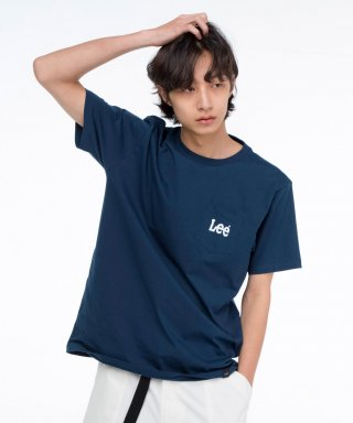 리(lee) 스몰 로고 포켓 반팔티 SMALL LOGO POCKET HALF TEE-NAVY
