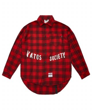 스티그마(stigma) MUSK OVERSIZED CHECK SHIRTS RED