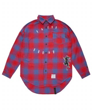 스티그마(stigma) PANTHER OVERSIZED CHECK SHIRTS RED