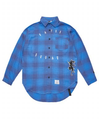 스티그마(stigma) PANTHER OVERSIZED CHECK SHIRTS BLUE