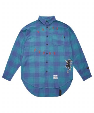 스티그마(stigma) PANTHER OVERSIZED CHECK SHIRTS GREEN