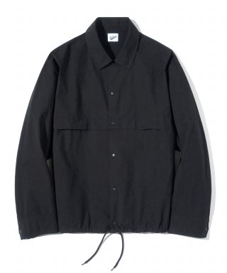 파르티멘토(partimento) Drawstring Shirts Jacket Black