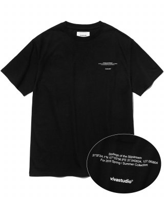 비바스튜디오(vivastudio) NEW LOCATION SHORT SLEEVE IS [BLACK]