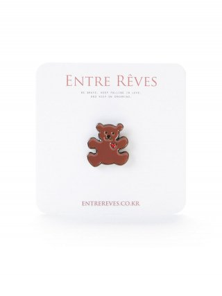 앙트레브(entrereves) LOVE BEAR BADGE