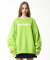 덕다이브(DUCKDIVE) EMOTION LOGO_CREWNECK_YELLOW GREEN