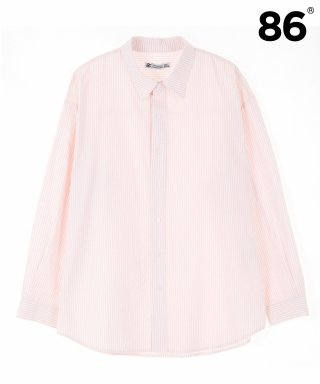 86로드(86road) BREEZE STRIPE SHIRTS (PINK)