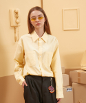 버닝() Long Placket Shirt (Yellow)