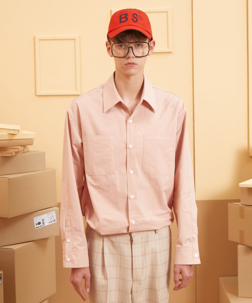 버닝(BURNING) Long Placket Shirt (Pink)