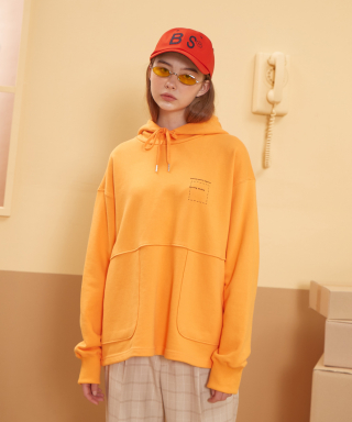 버닝(burning) Cutting Pocket Hoodie (Orange)