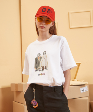 버닝(burning) Two Baby T-shirt (White)