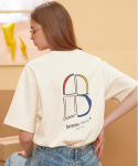 "버닝(BURNING) ""B"" Window T-shirt (Cream)"