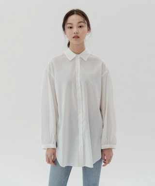 레이디 볼륨(ladyvolume) see-through blouse_white