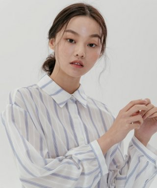 레이디 볼륨(ladyvolume) see-through blouse_stripe