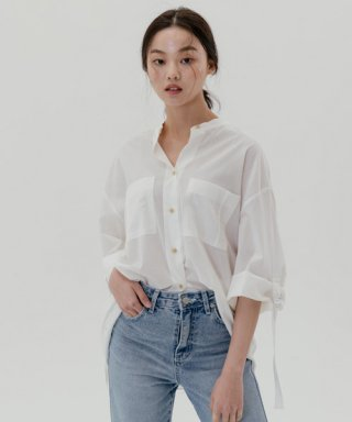 레이디 볼륨(ladyvolume) D-ring blouse_white
