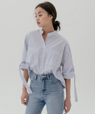레이디 볼륨(ladyvolume) D-ring blouse_stripe
