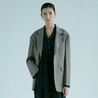 던스트(dunst) UNISEX TAYLOR OVERSIZED WOOL JACKET (BROWN) UDJA9E101W3