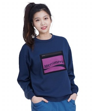 메리먼트(merriment) (UNISEX)Screen Zipper MTM (NAVY)