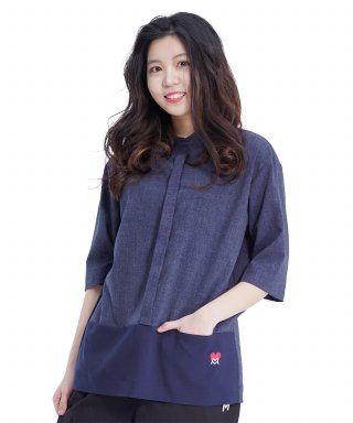 메리먼트(merriment) Combi Pocket Shirt (NAVY)