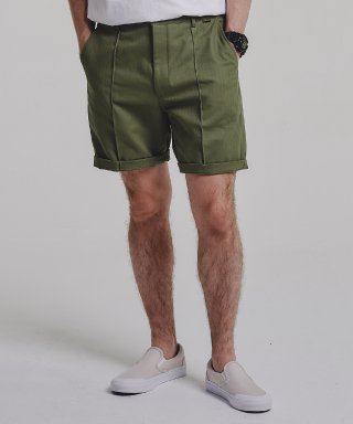 스테이지 네임(stagename) PINTUCK shorts_KHAKI