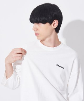 아더사이드(otherside) [UNISEX]OTHER BASIC 3/4 TEE (IVORY)