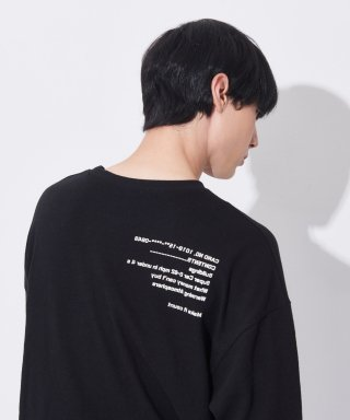 아더사이드(otherside) [UNISEX]THE OTHER BASIC LONGSLEEVE TEE (BLACK)